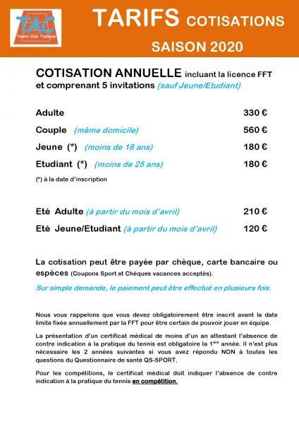 tac-tarif-cotisations-2020